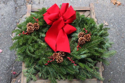 "24"" Custom Holiday Wreath"