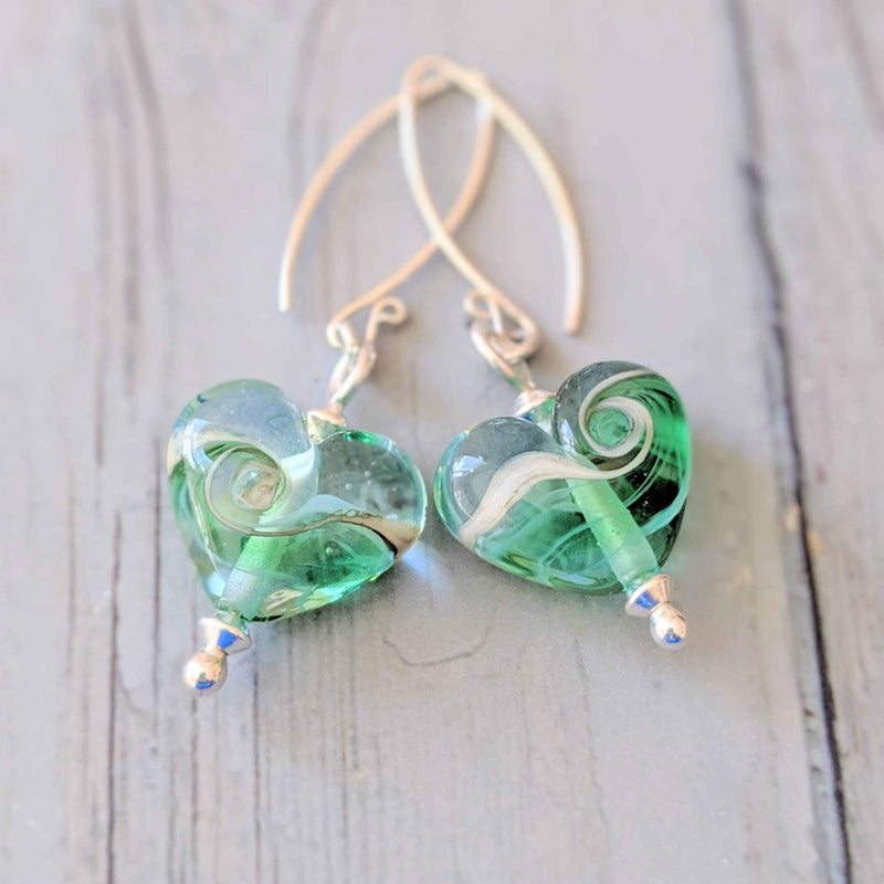 Turning Tides Heart Drop Earrings