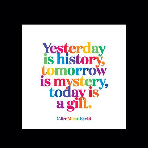 Quotable Magnet - Yesterday is History