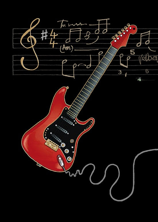 M090-Red Electric Guitar