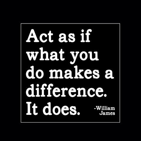 Quotable Magnet - Act as if what you do makes a difference. It does