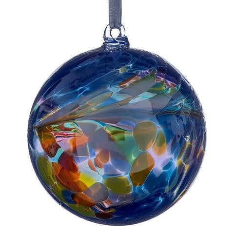 Sienna Glass - 10cm Friendship Ball - Blue