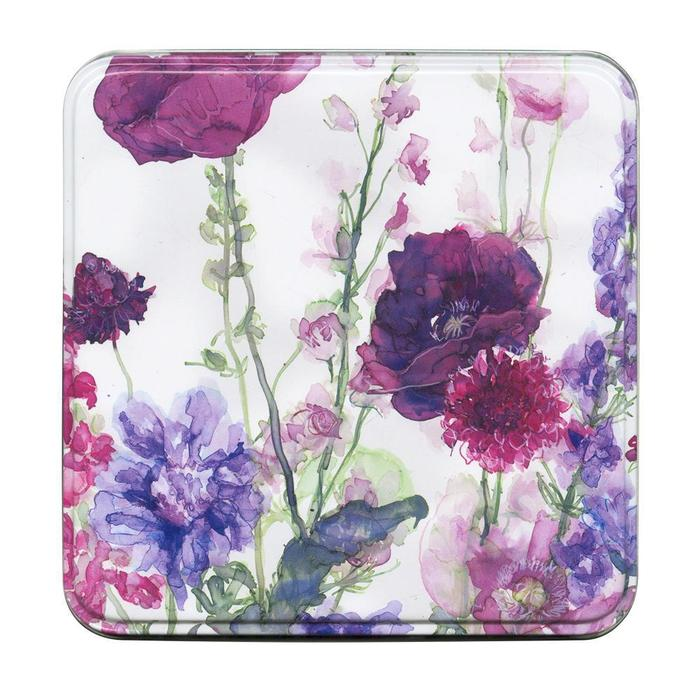 Whistlefish - Notelet Tin MWT15-Larkspur & Poppies