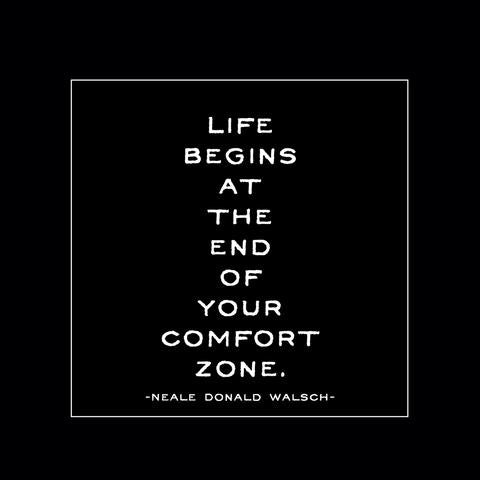 Quotable Magnet - Life Begins At The End of Your Comfort Zone