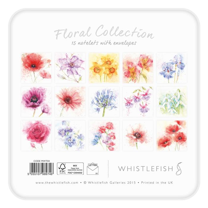 Whistlefish - Notelet Tin MWT04-Floral Collection