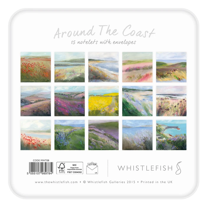Whistlefish - Notelet Tin MWT08-Around The Coast Collection