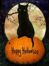 Load image into Gallery viewer, Scarry-cat-Halloween-paint-by-numbers