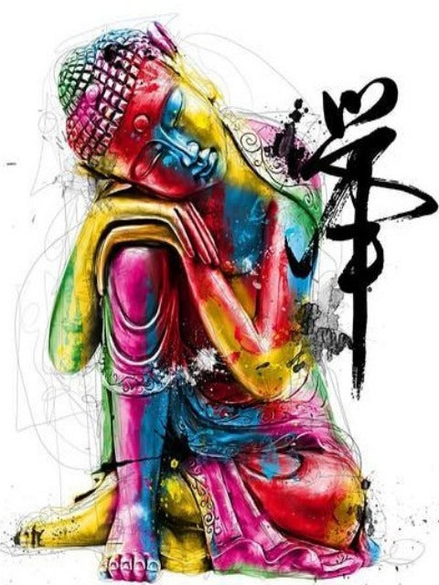 dreaming buddha paint by numbers