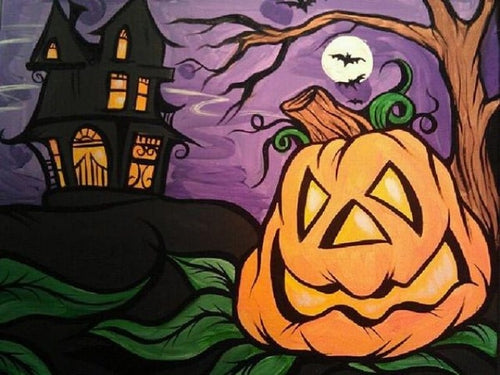 halloween paint by numbers