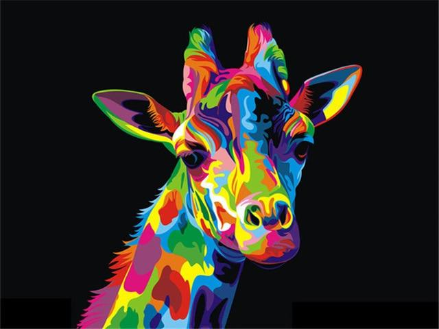 Neon Giraffe - Paint by numbers
