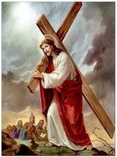 Load image into Gallery viewer, paint by numbers Jesus carrying cross