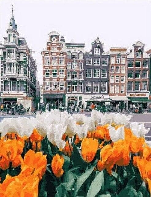 paint by numbers amsterdam tulips