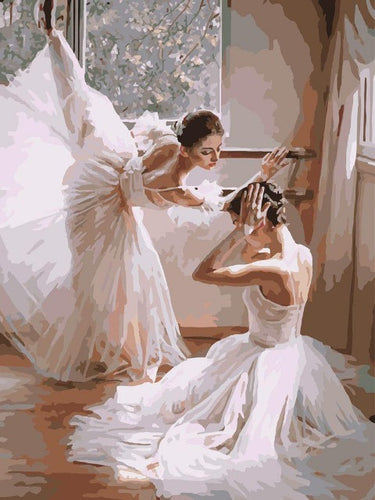 paint by numbers ballet dancers