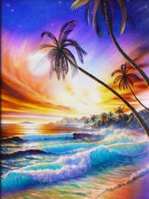 Load image into Gallery viewer, paint by numbers colorful beach