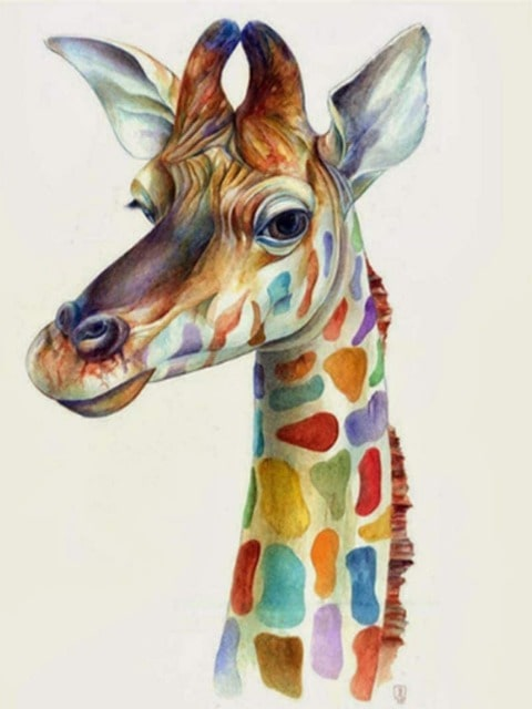 paint by numbers colorful giraffe