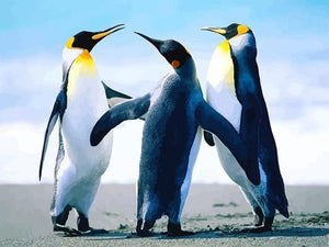 paint by numbers dancing penguins