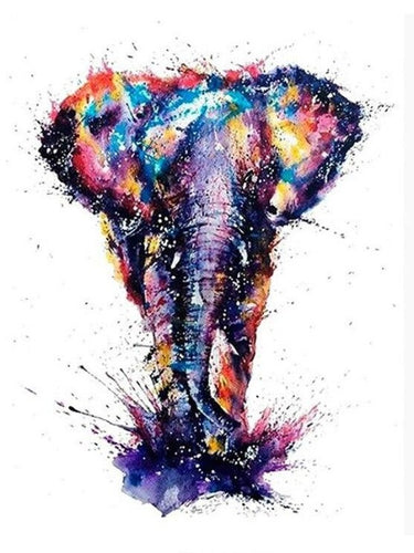 paint by numbers elephant color splash