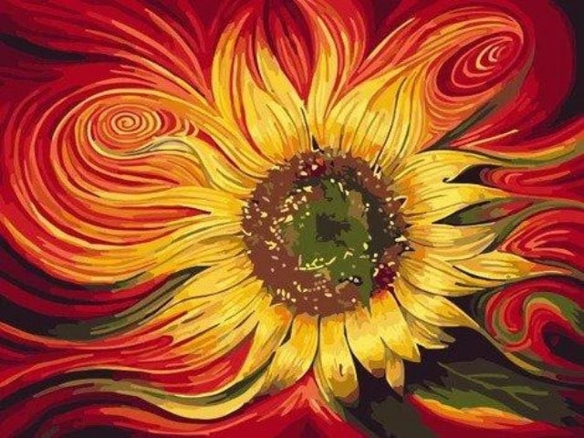 paint by numbers dreamy sunflowers