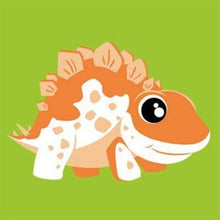 Load image into Gallery viewer, paint by numbers orange stegosaurus