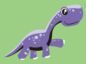 paint by numbers for kids purple dino