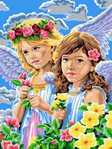 paint by numbers girl angels