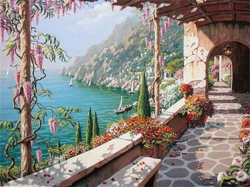 paint by numbers italian coast