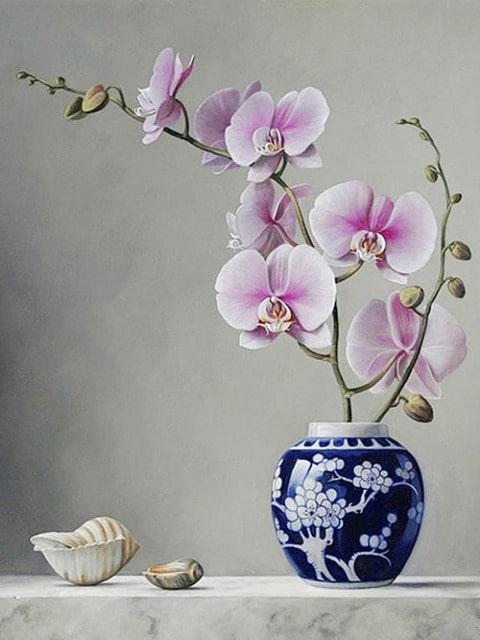 paint by numbers orchid