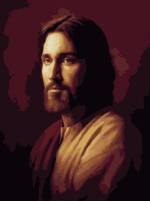 paint by numbers portrait of jesus