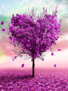 paint by numbers purple heart tree