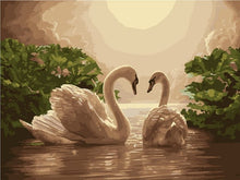 Load image into Gallery viewer, paint by numbers swans