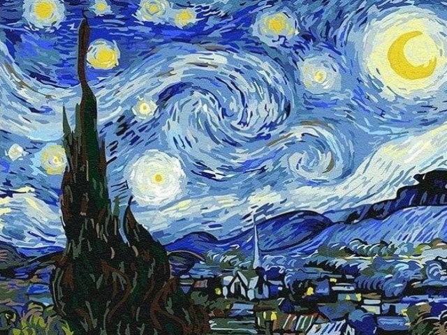 paint by numbers van gogh starry night