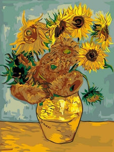 paint by numbers van gogh sunflowers
