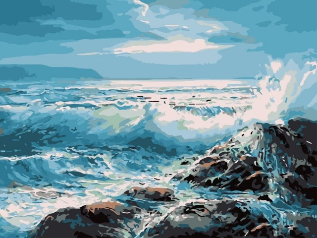 paint by numbers wild waves