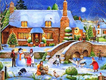 Load image into Gallery viewer, paint by numbers xmas in village