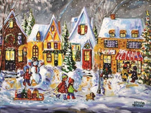 Load image into Gallery viewer, paint by numbers xmas winter laugh