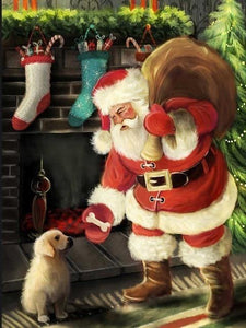 paint by numbers santa is coming