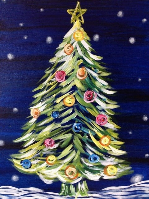 paint by numbers christmas tree