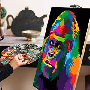 painting colorful gorilla