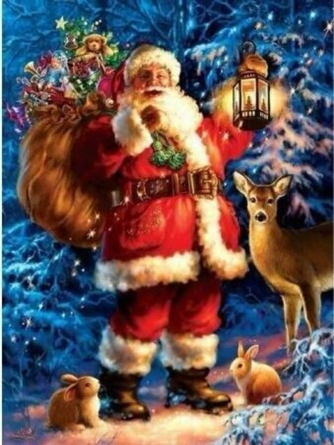 Santa Claus with Deer