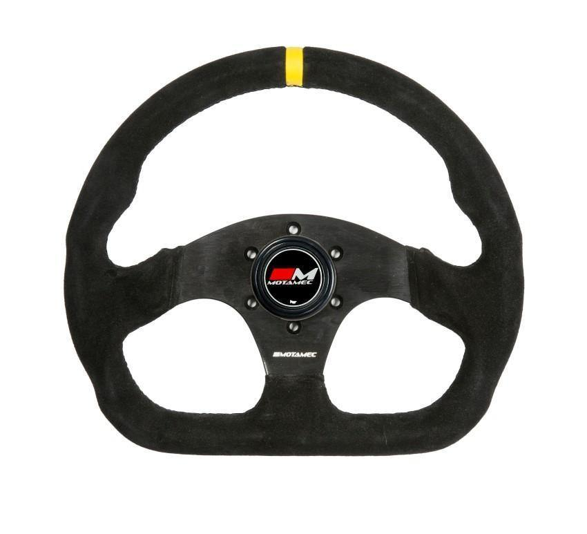 Motamec 350mm Steering Wheel D Shape - Racing Circuits