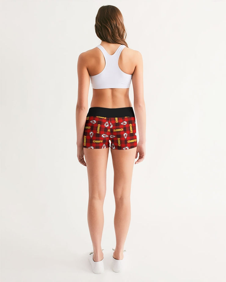 Kansas City Football Women's Mid-Rise Yoga Shorts