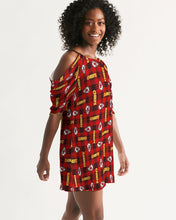 Load image into Gallery viewer, Kansas City Football Women's Open Shoulder A-Line Dress