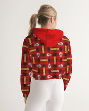 Load image into Gallery viewer, Kansas City Football Women's Cropped Hoodie