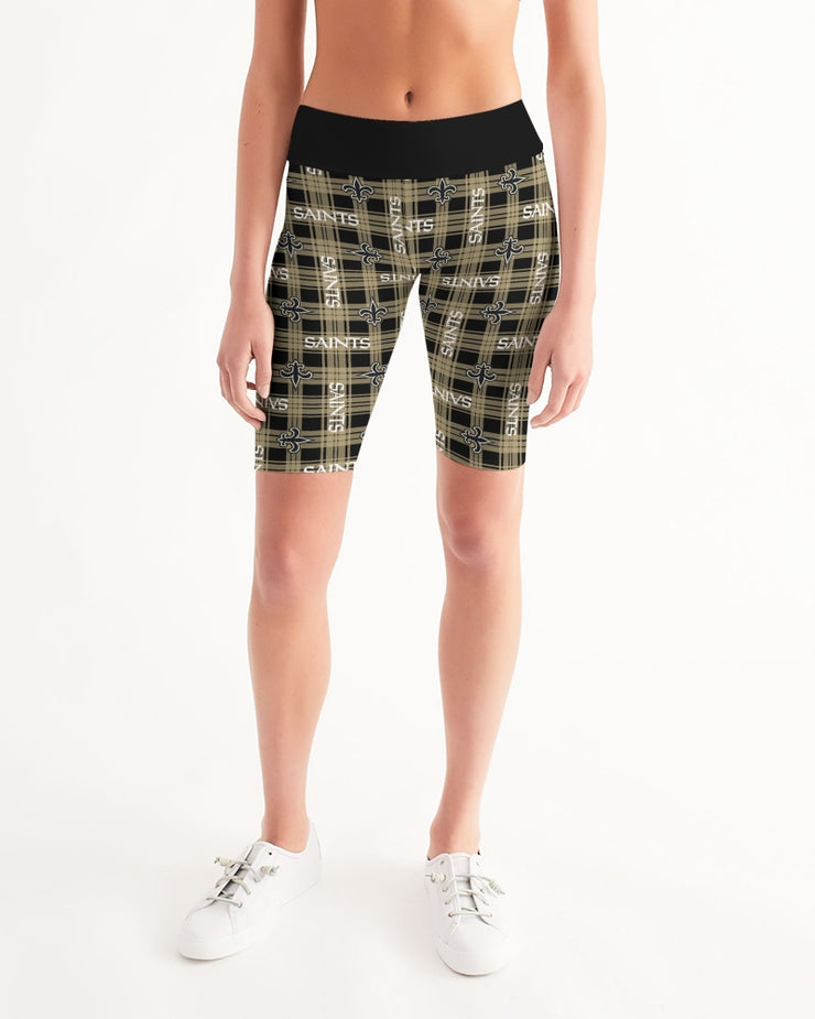 New Orleans Football Women's Mid-Rise Bike Shorts