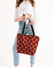 Load image into Gallery viewer, Kansas City Football Canvas Zip Tote