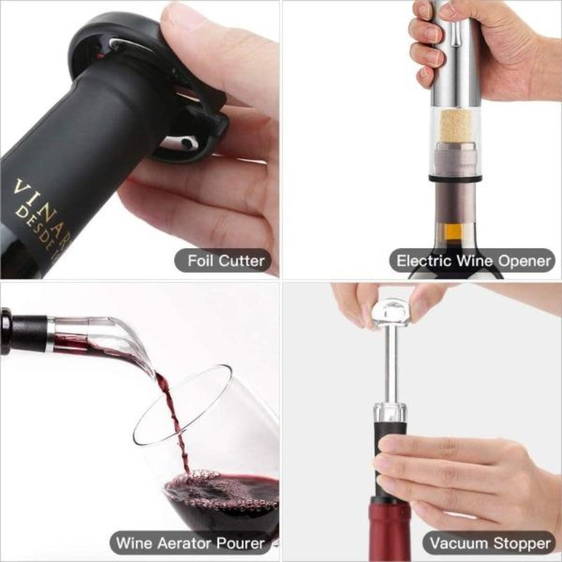 4 Piece Rechargeable Wine Opening Set