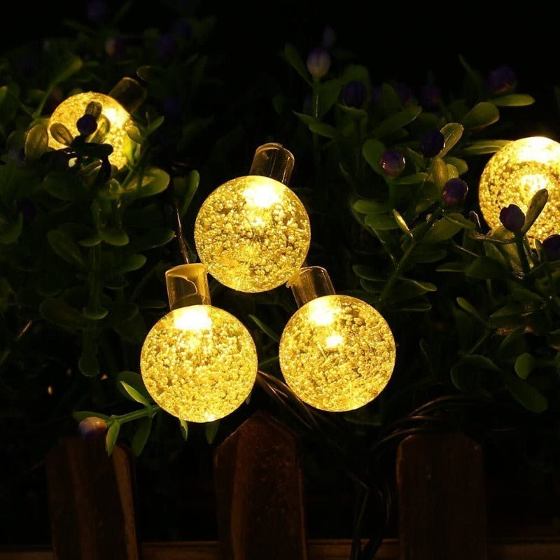 Solar Powered Round Lights