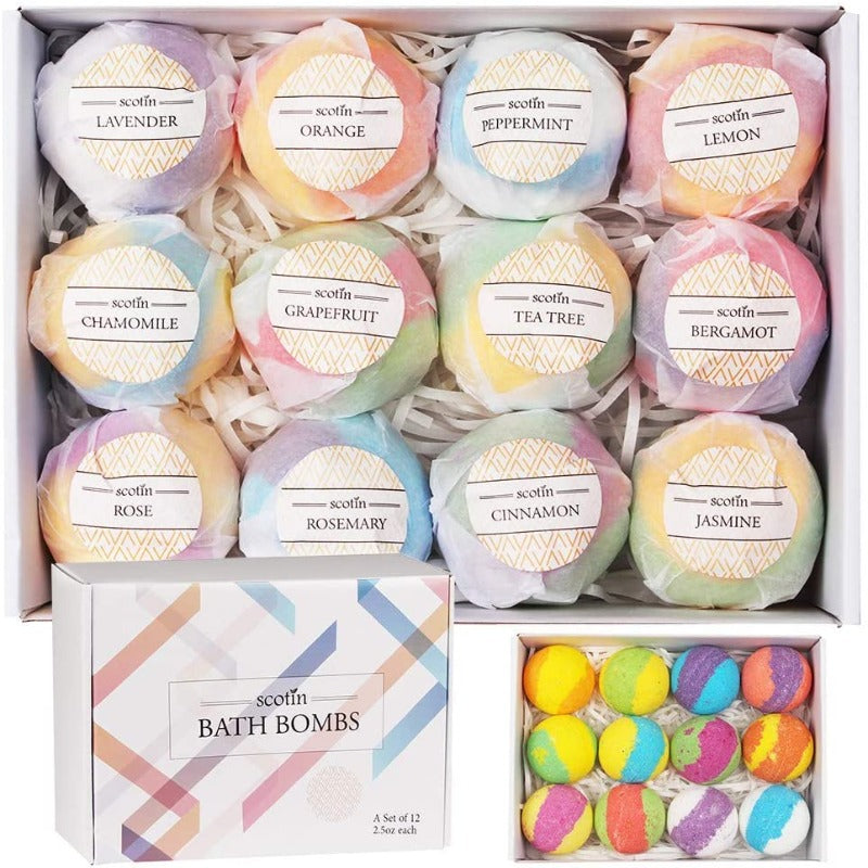 12 Piece Bath Bomb Set 12 x 70g