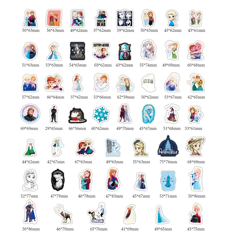100 Individual Frozen Stickers