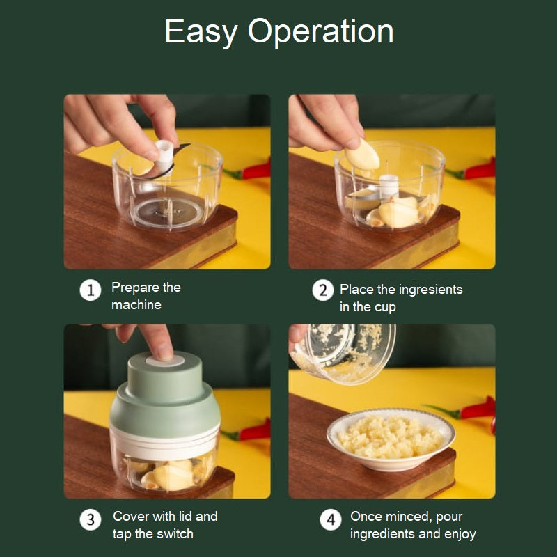 Mini USB Electric Garlic Mincer 250ml